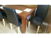 Solid Wood Table &4 Chairs
