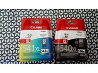 Printer cartridges for Canon £15 each or £25 for the two....541XL 540XL COLOUR and BLACK