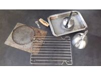 Selection of AGA hob/stove, wood burner accessories