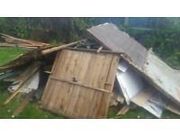 Broken up shed /wood