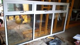 DOUBLE GLAZED PVC WINDOW - WHITE WITH BRASS HANDLES
