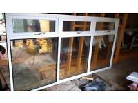 DOUBLE GLAZED PVC WINDOW - WHITE WITH BRASS HANDLES