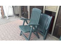 CLEARANCE STOCK GREEN PLASTIC FOLDING GARDEN/PATIO CHAIR CAN DELIVER