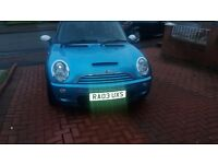 03 plate Mini Cooper with full Cooper S conversion. Supercharger, ECU re-mapped, competition clutch.