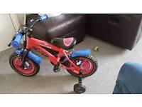 Spiderman 12inch kids bike