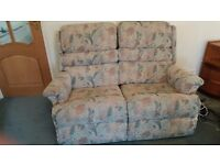 Sofa two seater with leg rests