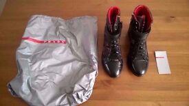 Prada black / camouflage heels size 5 (38)