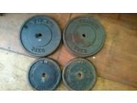 60kg of York metal weight plates