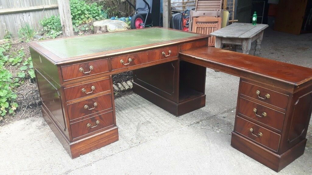 Large Corner Partners Desk Can Be Used As Double Pedestal 7 Drawers