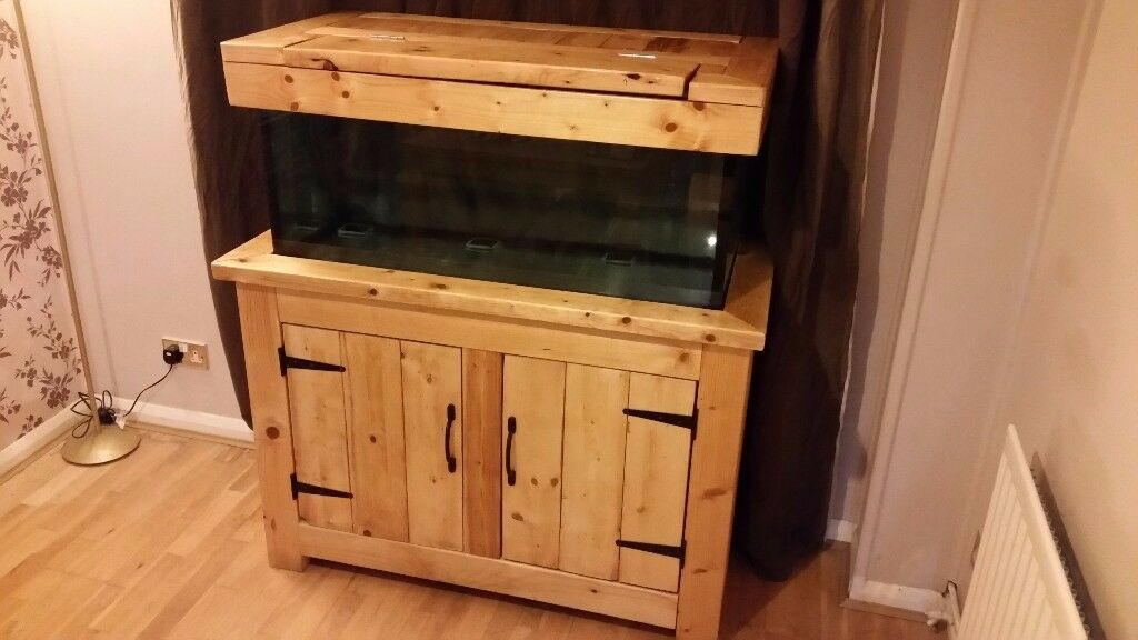 Fish / Turtle Tank with wood cabnet