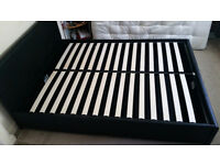 King Size Bed Frame with Storage - Only 1 Year Old