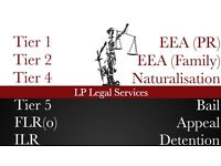 ImmigrationSpecialist Visa service - Tier 2,Tier 4,Tier 5,ILR, EEA Family Visa, Bail, Appeal, FLR(O)