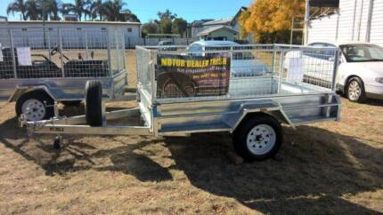 8 X 5 BOX TRAILER FULLY WELDED HOT DIPPED GALVANISED 600mm CAGE