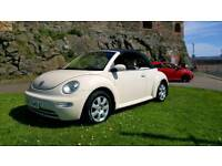 OPPORTUNITY TO OWN THIS RARE IVORY WHITE VOLKSWAGEN BEETLE ONE YEARS MOT FSH