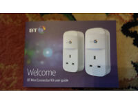 Powerline Homeplug mini adpaters by BT brand new in box wirefree networking