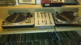 Numark TT1& TT2 Turntables/Mixers/Record Collection