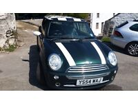 MINI COOPER 1.6 PETROL RACING GREEN 54 PLATE - IDEAL FIRST CAR