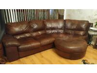 Large corner sofa, cuddle chair and foot stool