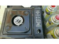 Portable Gas Stove and 6 Bottles Bustane Gas