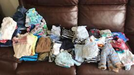 Boys mixed clothing bundle 0-3 months