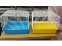 blue and pink bird cages for sale