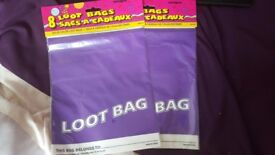 Purple Party Loot Bags