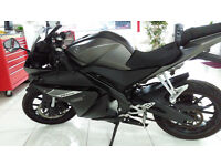 YAMAHA YZF R125 (65 plate) LIMITED EDITION MATT GREY with ABS BRAKES