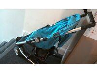 blue kia 3 wheeled buggy