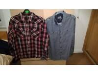 2x mens shirts s/m