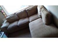 Linen Fabric L Shaped Corner Sofa