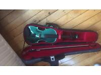 Green full size violin