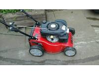 Self propelled fully serviced sanli petrol lawn mower no grass bag ring on 07907544820