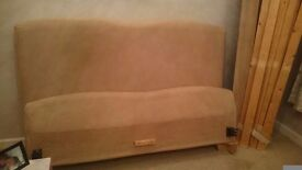 Faux suede king size bed