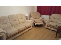 3 piece suite,incl 1 reclining chair. Excellent condition.