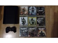 Sony PS3 superslim + 9 Call of Duty games