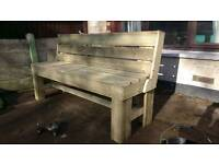Large Treated Garden Bench Hand Made