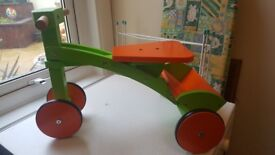 Wooden toddler bike