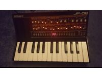 Roland jp-08 with added k-25 keyboard