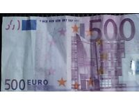 Euros needed for my holiday this week