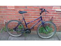 Ladies Raleigh enigma bike 18 inch frame, good working condition and ready to ride