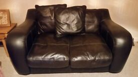 2/ 3 seater sofa's. Brown leatther/suede. Good condition. Smoke free home. Port seton pick up.