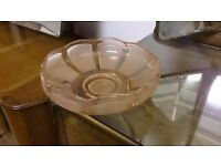 Pale Orange Glass Pot in Good Condition