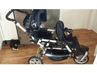 Jane double front facing buggy from birth