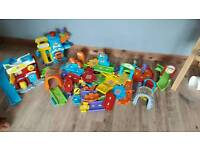 Large bundle of Toot Toot Drivers track Police Station Fire Station