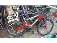 mans full suspension bike