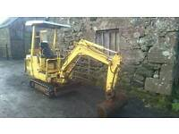 Case CK13 mini digger. Just serviced ready to go to work