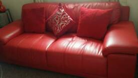 3+2seater in red
