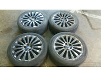 17 Genuine Ford focus ghia alloy wheels mondeo galaxy transit connect good tyres