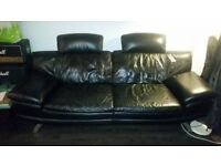 Contemporary leather 3 seater sofa