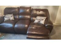 3 seater sofa with one corner recliner free free free